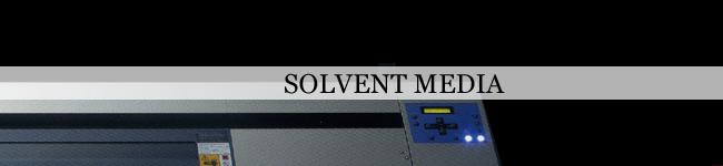溶剤出力インクジェットプリンター用メディア